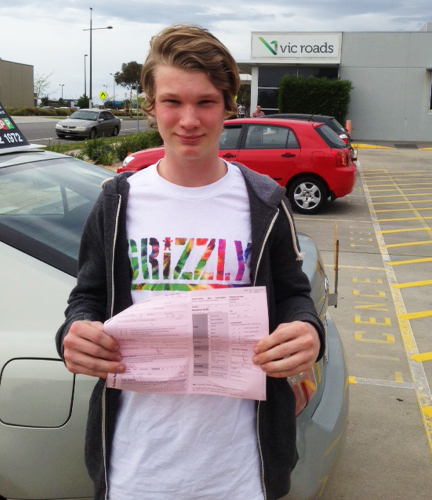 teen who passed the driving test