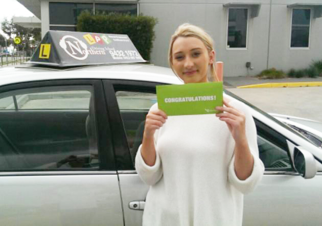 woman who passed driving test
