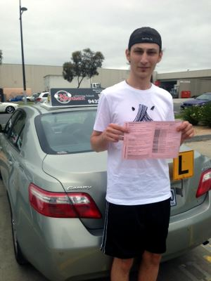 boy who passed driving test