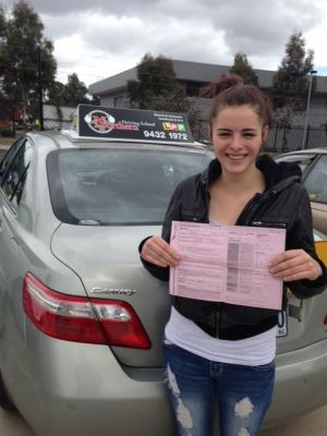 girl who passed driving test
